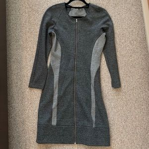 Theory grey zip up dress